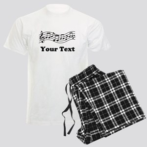 Music Staff Personalized Men's Light Pajamas