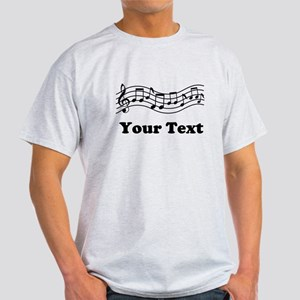 Music Staff Personalized Light T-Shirt