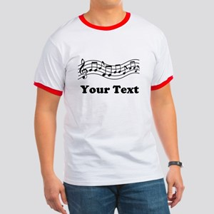 Music Staff Personalized Ringer T