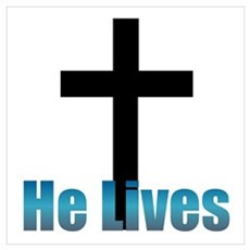 He lives Poster