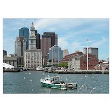 Fishing in Boston Poster