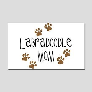 Labradoodle Mom Car Magnet 20 x 12