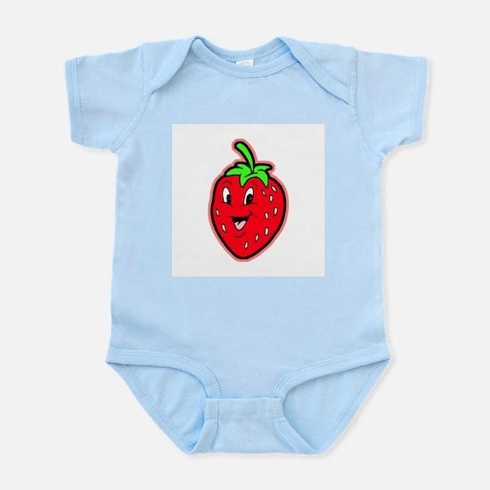Happy Strawberry Infant Creeper