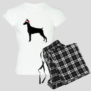 Doberman Santa Women's Light Pajamas
