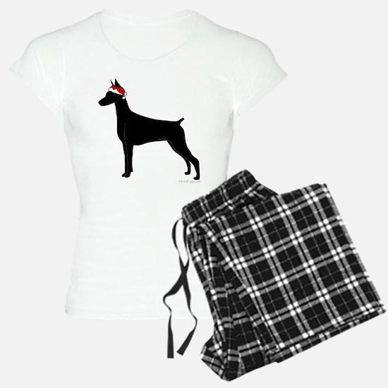 Doberman Santa Pajamas