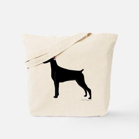 Doberman Santa Tote Bag