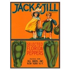 Vintage Jack and Jill Peppers Framed Print