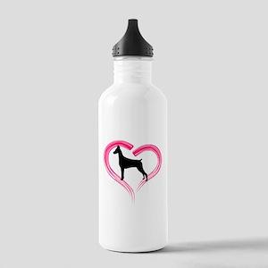 Heart My Doberman Stainless Water Bottle 1.0L