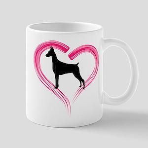 Heart My Doberman Mug