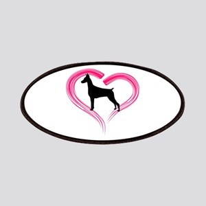 Heart My Doberman Patches