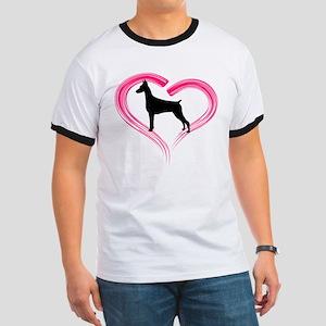 Heart My Doberman Ringer T