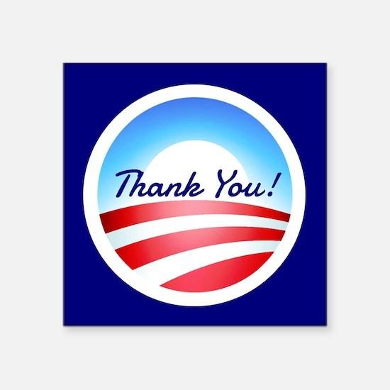 Thank You Obama: Sticker