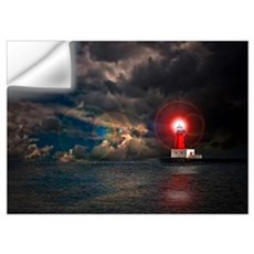 Menominee Pier Lighthouse Wall Decal