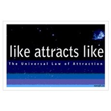 Universal Law of Attraction Poster