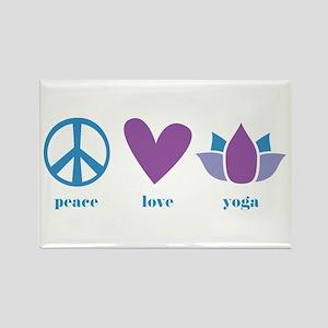 peace, love, yoga Rectangle Magnet