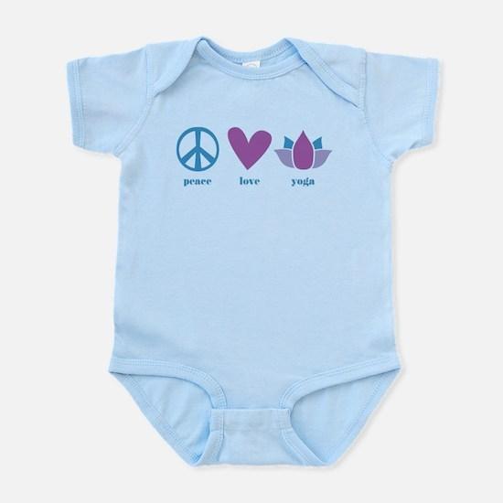 peace, love, yoga Infant Bodysuit