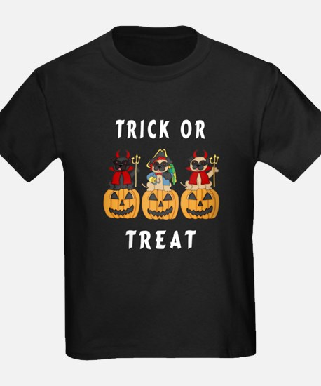 Halloween Trick or Treat Pugs T