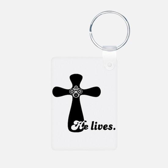 Riyah-Li Designs He Lives Keychains