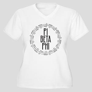 Pi Beta Phi Arrow Women's Plus Size V-Neck T-Shirt