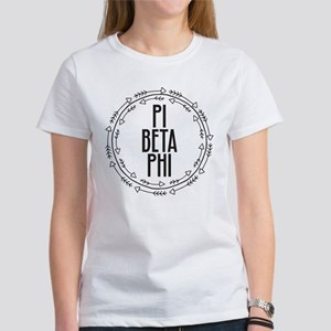 Pi Beta Phi Arrows Women's Classic White T-Shirt
