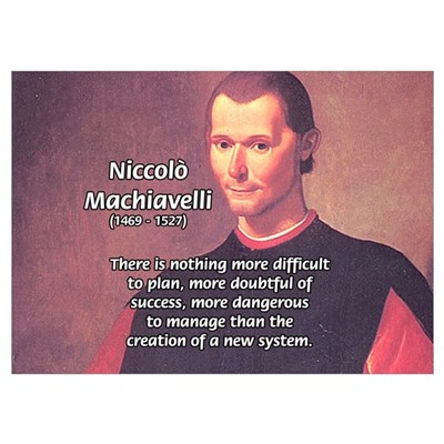 Political Theory: Machiavelli Poster