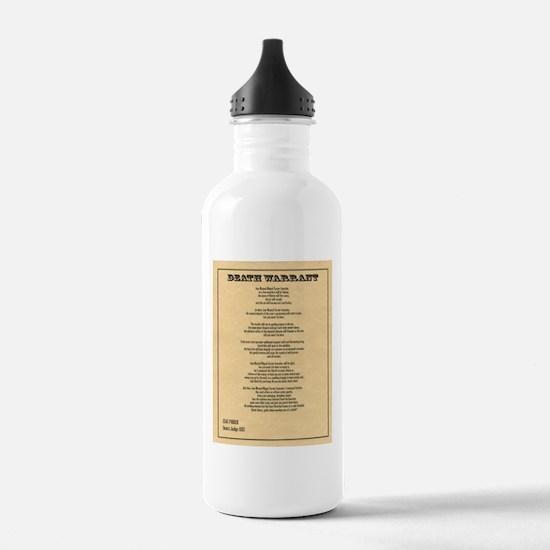 Hanging Judge Death Warrant Water Bottle