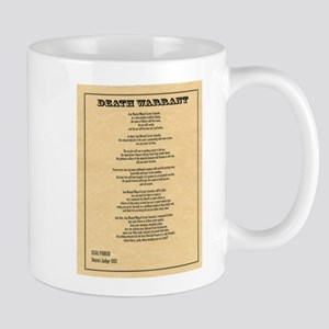 Hanging Judge Death Warrant Mug