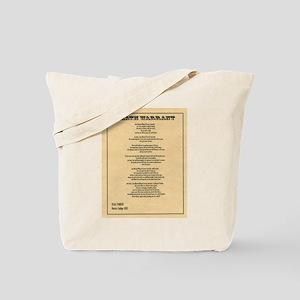 Hanging Judge Death Warrant Tote Bag