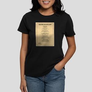 Hanging Judge Death Warrant Women's Dark T-Shirt