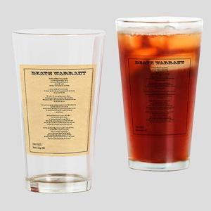 Hanging Judge Death Warrant Drinking Glass