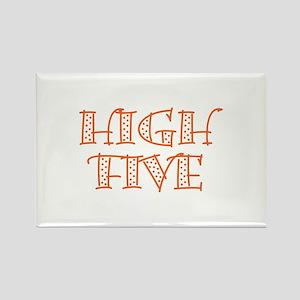 HighFive_Orange Rectangle Magnet