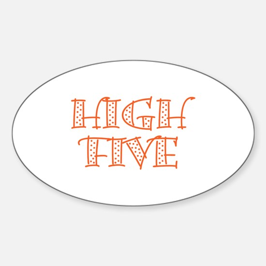 HighFive_Orange Sticker (Oval)