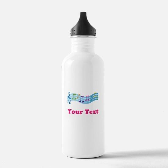 Music Personalized Cute Water Bottle