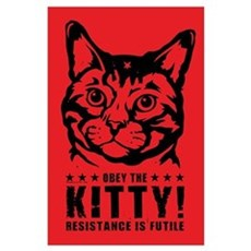 Obey the KITTY! Cat Revolution Poster