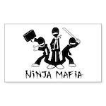 Ninja Mafia Sticker (Rectangle 50 pk)