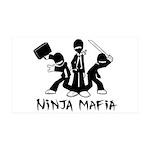 Ninja Mafia 38.5 x 24.5 Wall Peel