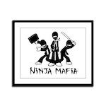 Ninja Mafia Framed Panel Print