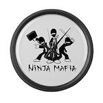 Ninja Mafia Large Wall Clock