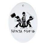 Ninja Mafia Ornament (Oval)