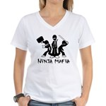 Ninja Mafia Women's V-Neck T-Shirt
