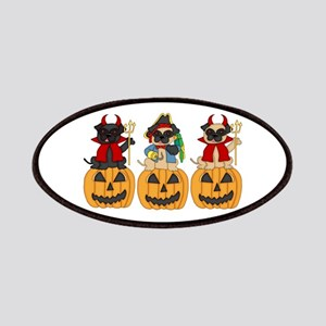 Halloween Trick or Treat Pugs Patches