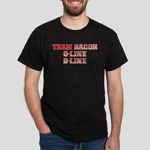 Team Bacon - Offensive Line/D Dark T-Shirt
