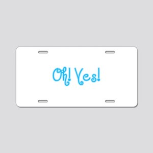 OhYes_Blue Aluminum License Plate