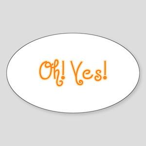 OhYes_Orange Sticker (Oval)