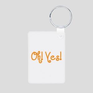 OhYes_Orange Aluminum Photo Keychain