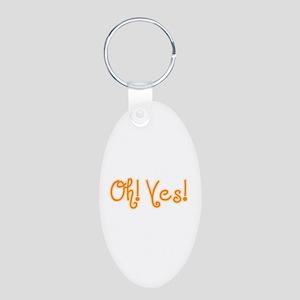 OhYes_Orange Aluminum Oval Keychain