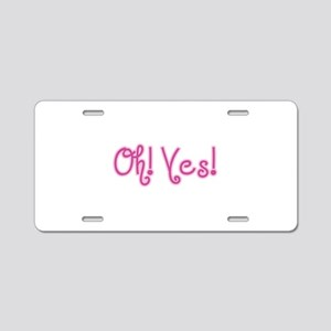 OhYes_Pink Aluminum License Plate