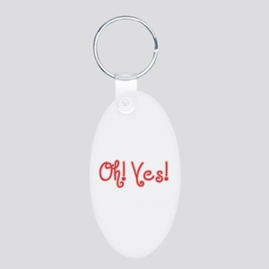 OhYes_Red Aluminum Oval Keychain