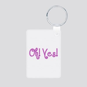 OhYes_Red Aluminum Photo Keychain