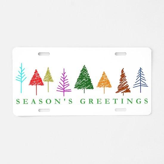 Christmas Trees Aluminum License Plate